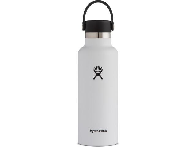 Hydro Flask Standard Mouth Drinkfles met standaard Flex Cap 532ml, wit
